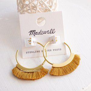 Madewell Fringe Hoop Earrings in Cumin